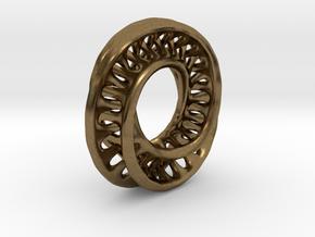 1 Inch Interconnected Moebius in Natural Bronze