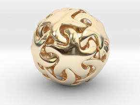 Starfish ball in 14K Yellow Gold