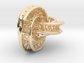 Chained Interconnected Moebius in 14K Yellow Gold