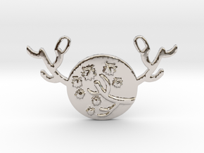 Horned Moon Autumn by ~M. in Rhodium Plated Brass