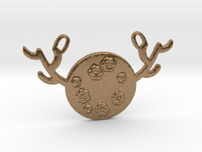 Horned Moon Spring by ~M. in Natural Brass