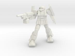 'Pug' A1A - Pugnator pose 5 in White Strong & Flexible