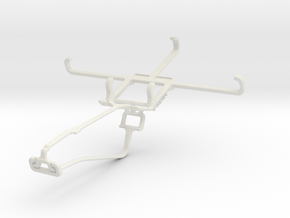 Controller mount for Xbox One Chat & BLU Studio M  in White Natural Versatile Plastic