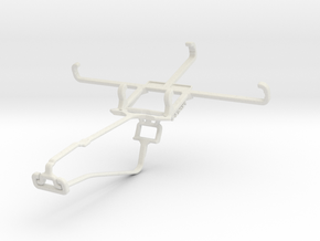 Controller mount for Xbox One Chat & verykool SL45 in White Natural Versatile Plastic