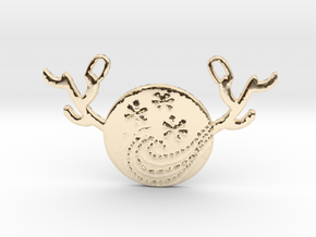 Horned Moon Winter by ~M. in 14K Yellow Gold