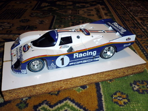 Slot car chassis for 962 CLH 1/28 in White Strong & Flexible