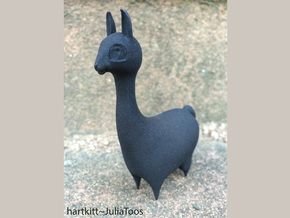 Llama in Black Natural Versatile Plastic