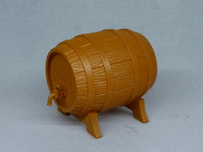 Wooden Barrel in Smooth Fine Detail Plastic