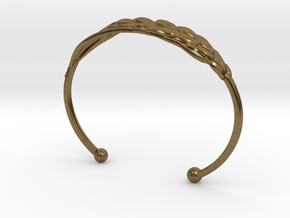 Wheat Bracelet all sizes in Raw Bronze: Extra Small
