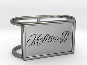 Melissa B TwinRing in Fine Detail Polished Silver: 6 / 51.5