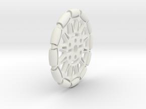 Omniwheel (Pololu Hub compatible) in White Natural Versatile Plastic