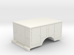 Tool Box Truck Bed 1-87 HO Scale in White Natural Versatile Plastic
