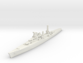 Duca degli Abruzzi class light cruiser 1/1800 in White Natural Versatile Plastic