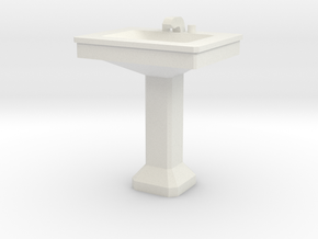 1:48 Sink 2 in White Natural Versatile Plastic