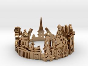 Sankt Petersburg Skyline - Cityscape Ring in Polished Brass: 9 / 59
