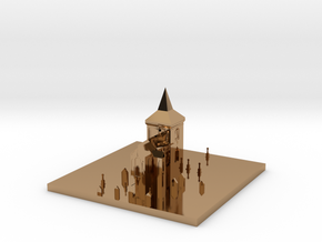 Church in Polished Brass