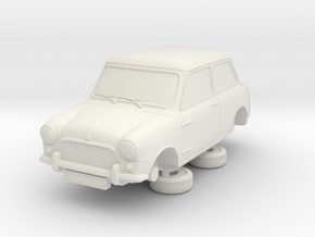 1-87 Austin Mini 58 Saloon in White Natural Versatile Plastic