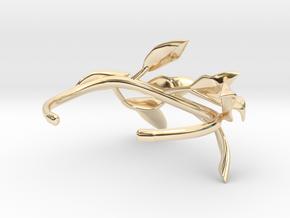 Laurel Leaf Cuff in 14k Gold Plated Brass