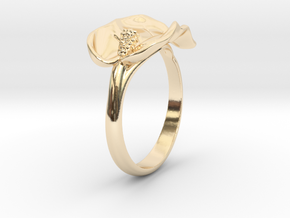 Lily ring in 14k Gold Plated Brass