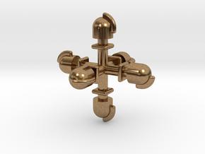 Dampflok Glocke (6x 1,6) in Raw Brass