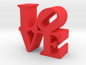 Love Sculpture miniature in Red Strong & Flexible Polished