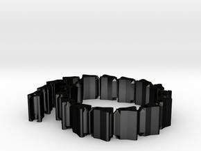 Chain Bracelet in Matte Black Steel: Medium
