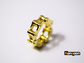 Violetta L. - Bicycle Chain Ring in 18k Gold Plated: 6 / 51.5