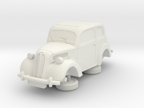 1-64 Ford Anglia E494a in White Natural Versatile Plastic