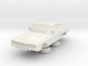 1-64 Ford Capri Mk1 3L in White Natural Versatile Plastic