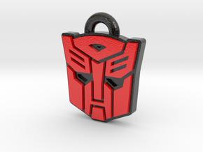 Autobot/Decepticon Flip Symbol in Glossy Full Color Sandstone