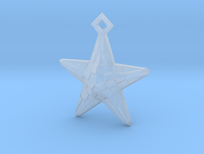 Stylised Sea Star ornament for Christmas in Smooth Fine Detail Plastic