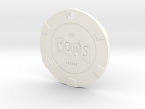 The Tops Chip Pendant in White Processed Versatile Plastic