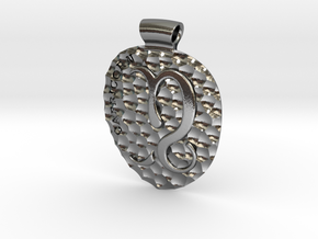 Capricorn Pendant in Polished Silver