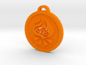 Psychonauts Pyrokinesis Badge Keychain in Orange Strong & Flexible Polished