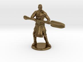 Jaffa  Attack Pose - 35mm  in Natural Bronze