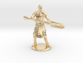 Jaffa  Attack Pose - 35mm  in 14k Gold Plated Brass