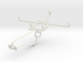 Controller mount for Xbox One Chat & BLU Studio 5. in White Natural Versatile Plastic