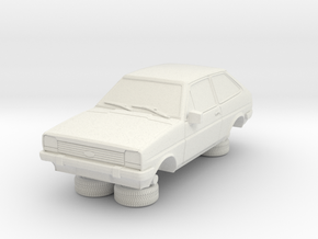 1-64 Ford Fiesta Mk1 Standard in White Natural Versatile Plastic