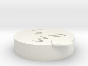 Lover Pendant in White Natural Versatile Plastic