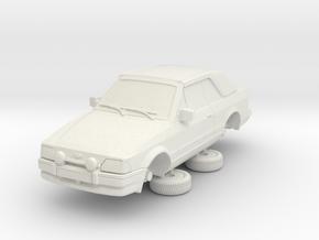 1-64 Ford Escort Mk4 2 Door Cabriolet in White Natural Versatile Plastic