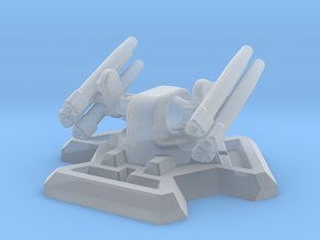 Missile Turret (6mm Scale / 20mm Hex Base) in Smooth Fine Detail Plastic