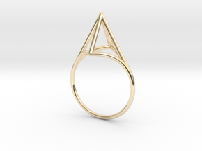 Strukt Ring  in 14K Yellow Gold: 7.5 / 55.5