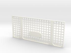 Heritage grille D90 D110 Gelande 1:10 in White Processed Versatile Plastic