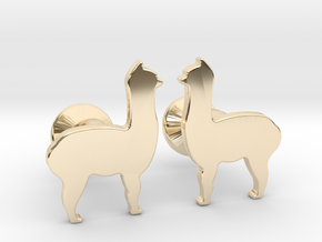 Llama Cufflinks in 14K Yellow Gold