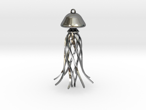 Jelly Fish  in Fine Detail Polished Silver