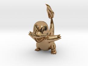 Charmander RAWR Miniature in Polished Brass: Medium