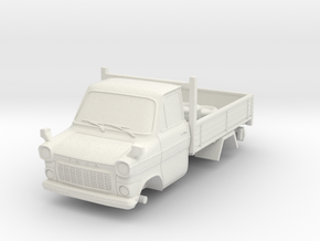1-87 Ford Transit Mk1 Short Base Pickup Truck (rep in White Natural Versatile Plastic