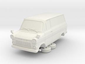 1-76 Ford Transit Mk1 Short Base Van in White Natural Versatile Plastic
