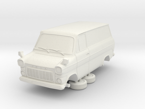 1-64 Ford Transit Mk1 Short Base Delivery Van in White Natural Versatile Plastic