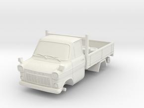 1-64 Ford Transit Mk1 Short Base Pickup Truck in White Strong & Flexible